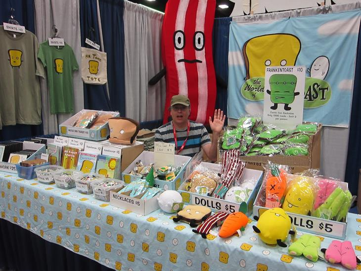 Mr. Toast at Comic-Con