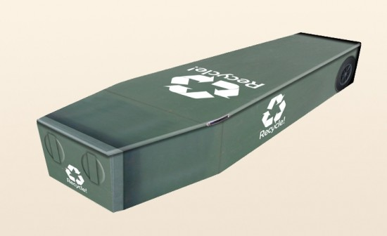 Recycled Coffin by Colourful Coffins