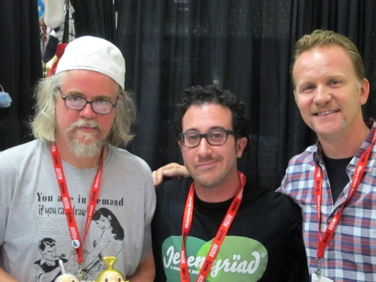 Ron English, Morgan Spurlock and me!