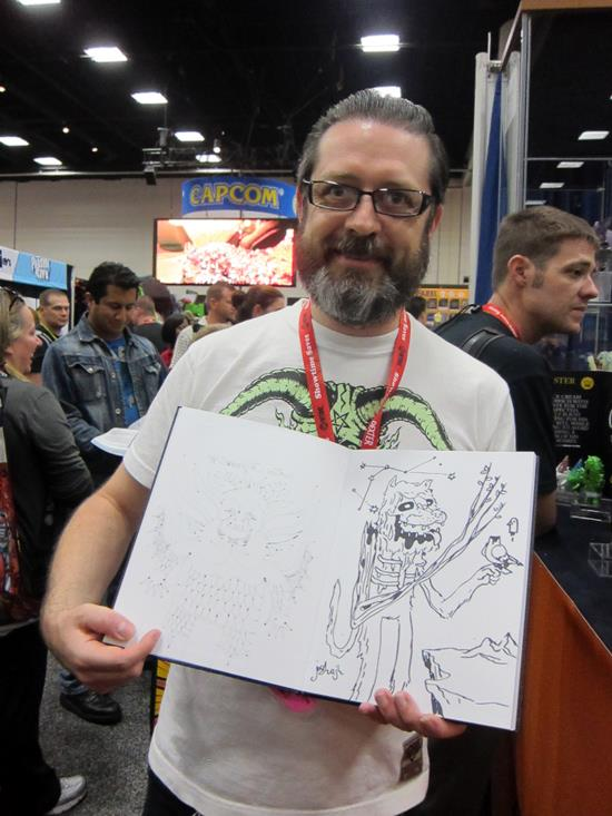 Carl/Muton with sketch by Josh Herbolsheimer
