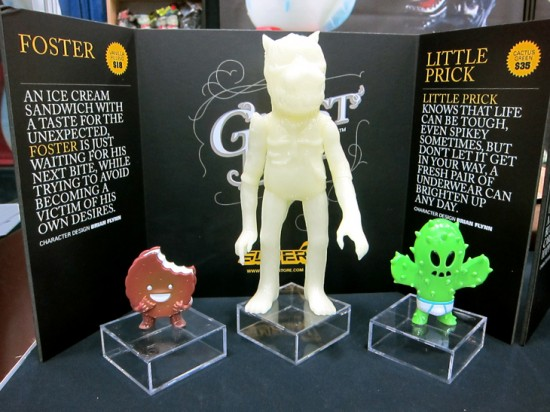 Foster & Little Prick by Brian Flynn, GID Earth Wolf by Josh H and Medicom
