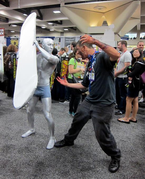 Silver Surfer Making Friends