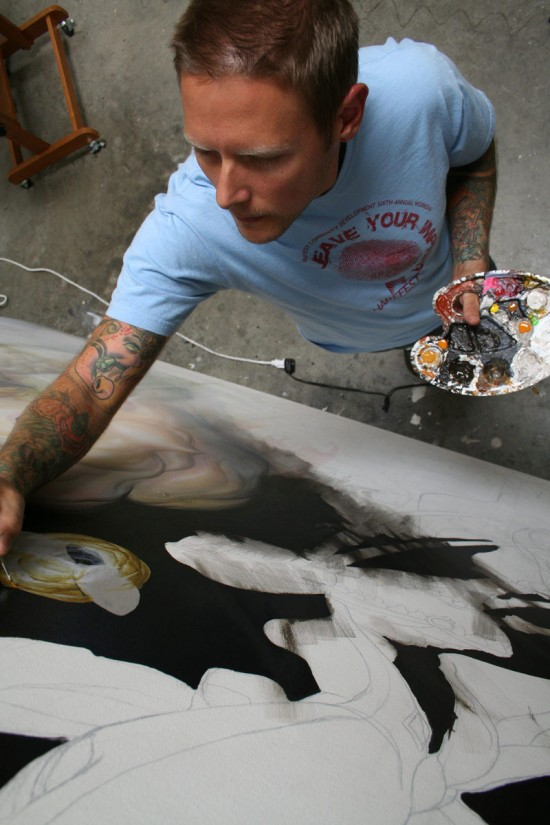 """Greg """"Craola"""" Simkins painting"""