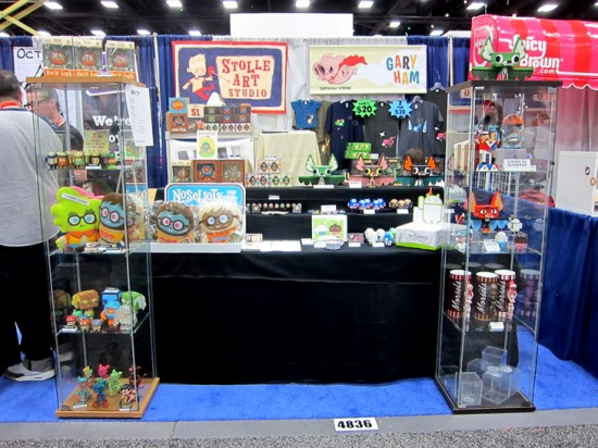 Scott Tolleson &amp; Gary Ham's Booth at SDCC 2011