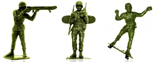 Toy Soldiers on Skateboards