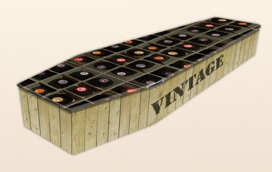 Vintage Wine Coffin by Colourful Coffins