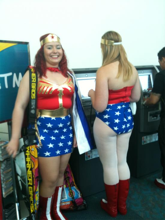They're not Electroclash on No Heroices: Wonder Women at the ATM.