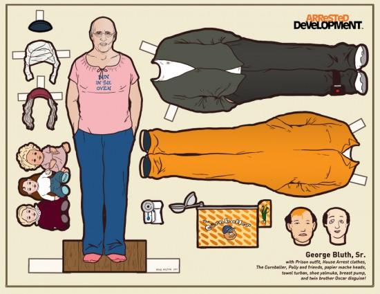 Arrested Development Paper Dolls: George Bluth Senior © Kyle Hilton