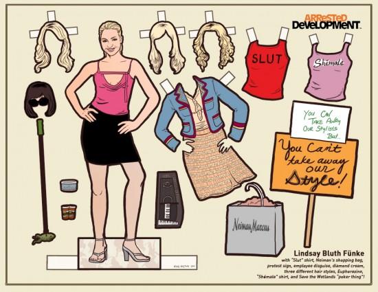 Arrested Development Paper Dolls: Lindsay Bluth © Kyle Hilton