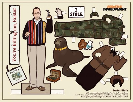 Arrested Development Paper Dolls: Buster Bluth © Kyle Hilton