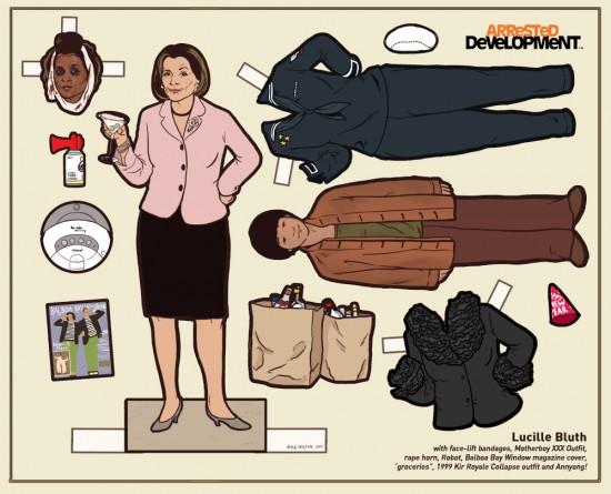 Arrested Development Paper Dolls: Lucille Bluth © Kyle Hilton