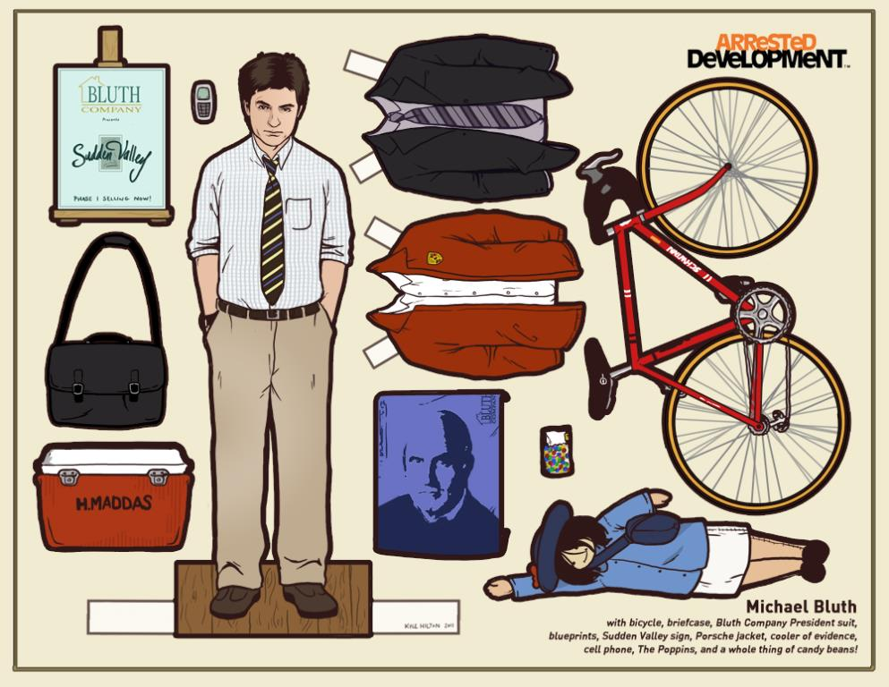 Arrested Development Paper Dolls: Michael Bluth © Kyle Hilton