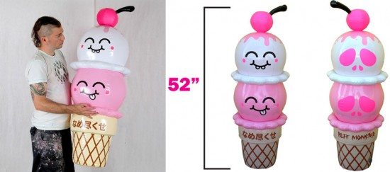Inflatable Art Artist: Buff Monster's Inflatable Ice Cream from Loyal Subjects