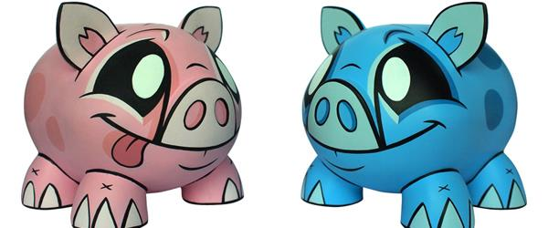 Vinyl Piggybanks from Joe Ledbetter and Play Imaginative