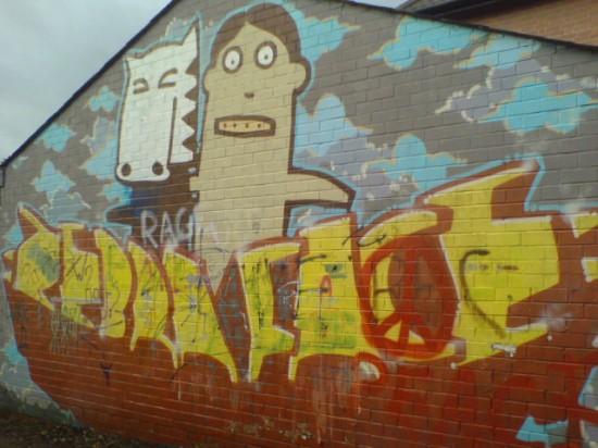 Zebraface Graffiti