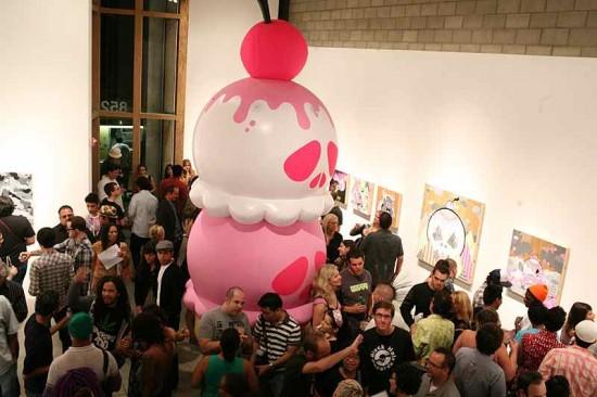 Inflatable Art Artist: Buff Monster Ice Cream Sculpture at Corey Helford Gallery