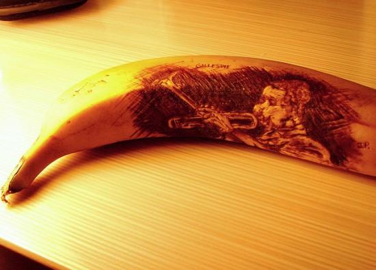 Dizzy Gillespie Banana Peel Art by Jun Gil Park