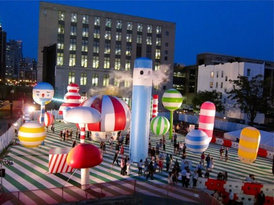 Inflatable Art Artist: Friends With You's Rainbow City, NYC
