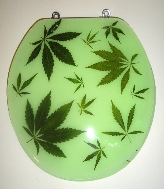 Funky Junky's Pot Pot Marijuana Customized Toilet Seat