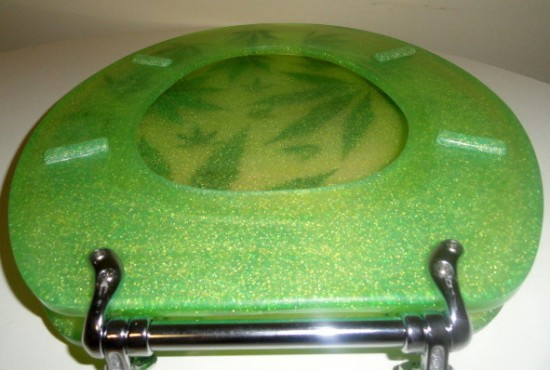 Funky Junky's Pot Pot Marijuana Customized Toilet Seat