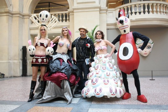 Inflatable Art Artist: Gary Baseman, Toby and Friends in Italy
