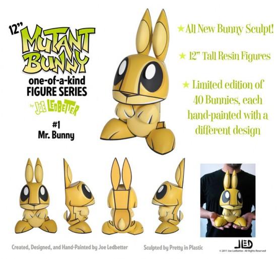 12-inch Mutant Bunnies by Joe Ledbetter