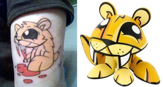Tattoos inspired by art: Cutter by Joe Ledbetter.