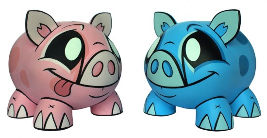 Joe Ledbetter Piggy Banks as Vinyl Toys