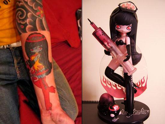 Tattoos inspired by art: Chika by Junko Mizuno.