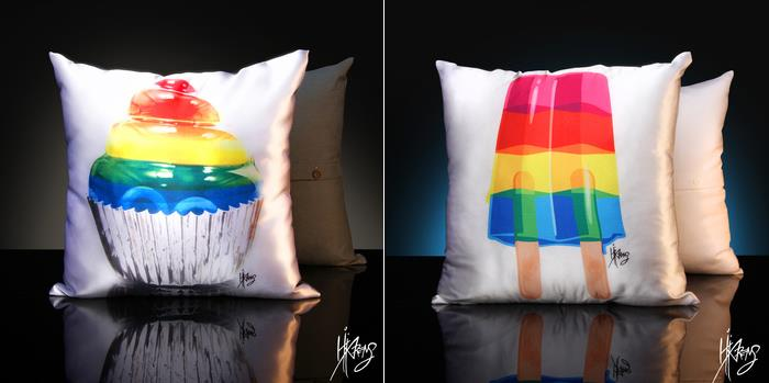 Pillows by Kii Arens