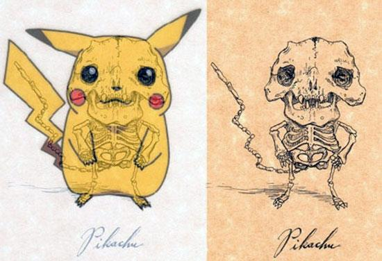 Classic Cartoon Characters Dissected: Pikachu © Michael Paulus