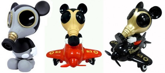Ron English's Mouse Mask Murphy in Mickey Mouse gas masks