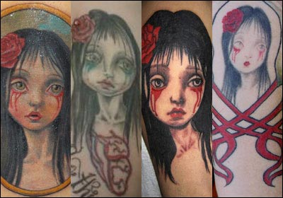 "Mark Ryden ""Rose"" Tattoos"