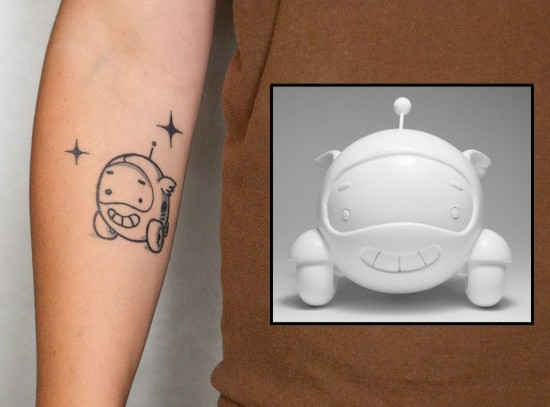 Tattoos inspired by art: Luno by Sergey Safonov. Flesh canvas also by Sergey Safonov.
