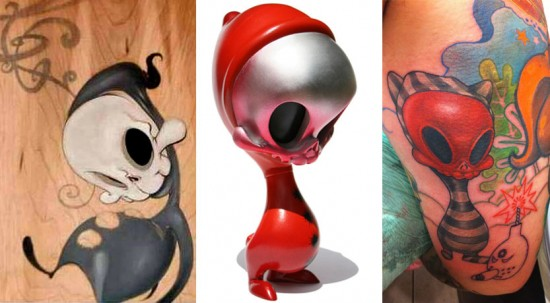 Ron's toy art tattoos