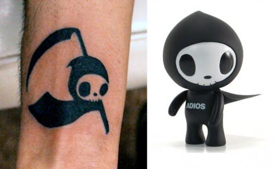Tattoos inspired by art: Adios by tokidoki.