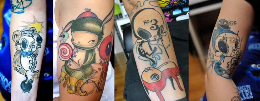 Kaws Art Tattoos