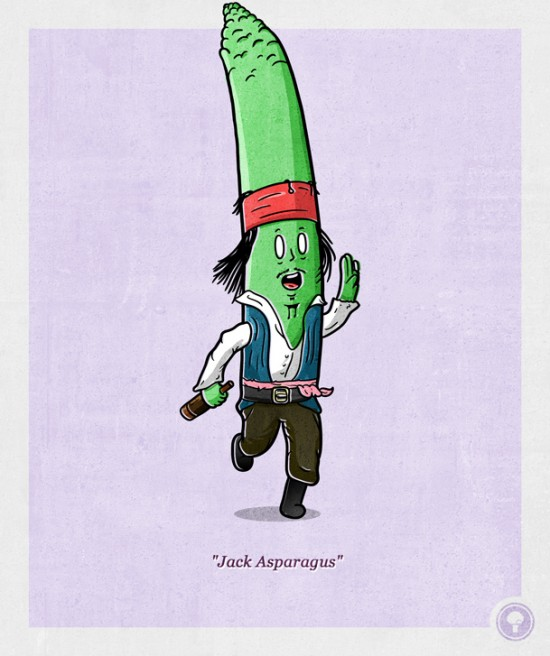 vegetable characters by Lucas Savelli