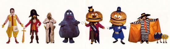 McDonalds characters 1970s
