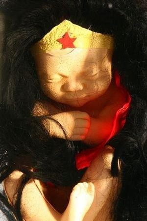 Fetal Wonderwoman by Alexandre Nicolas