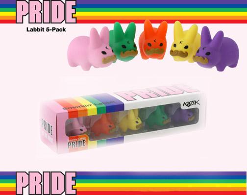 Frank Kozik's Pride Labbits produced by Kidrobot