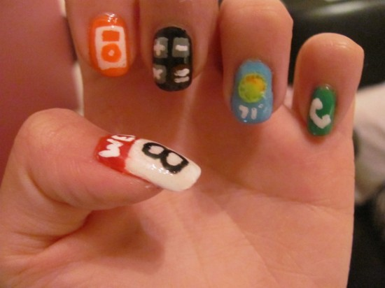 Nail Art Pop Culture: iPhone Apps Nails by Nancy L