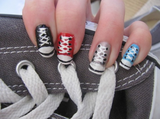 Nail Art Pop Culture: Sneaker Nails by Nancy L