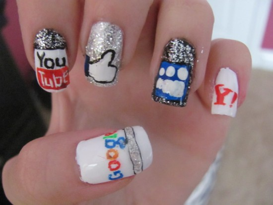 Nail Art Pop Culture: Social Network Nails by Nancy L