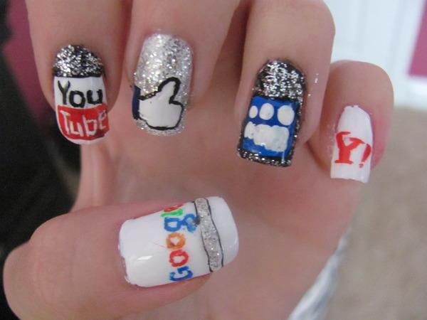 Social Network Nails by Nancy L