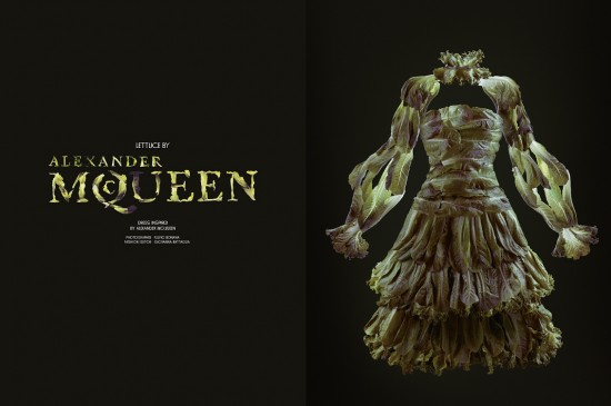 Lettuce by Alexander McQueen. Photo  Fulvio Bonavia for Garage magazine.