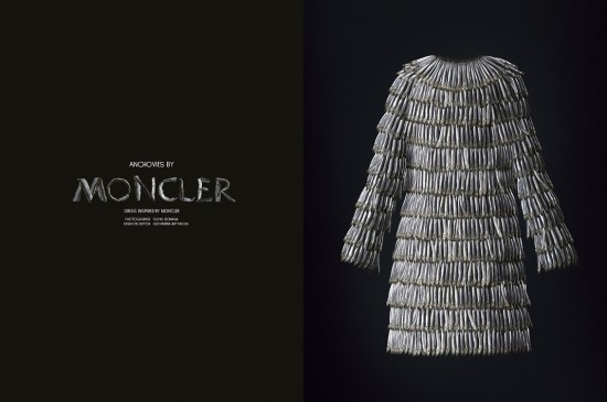 Anchovies by Moncler. Photo  Fulvio Bonavia for Garage magazine.