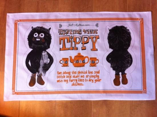 Tea Time with Tippy Tea Towel by Felt Mistress