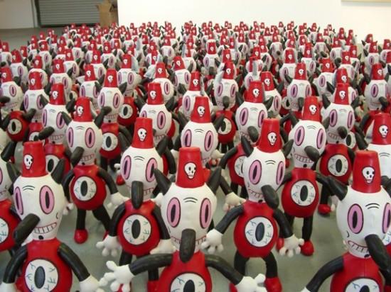 Gary Baseman's Toby army