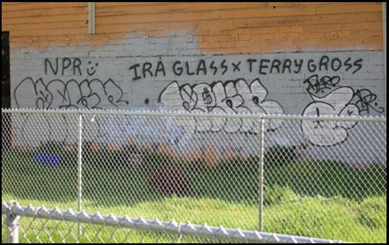 NPR graffiti